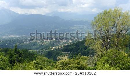 Garfagnana (Lucca, Tuscany, Italy): landscape at summer - stock photo