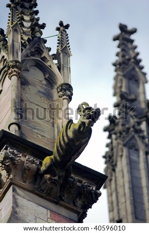 gargoyle on medieval church