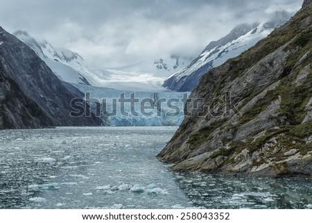 Garibaldi Glacier, Patagonia, Chile - stock photo