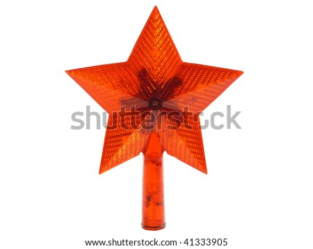 Garland, star on a white background - stock photo