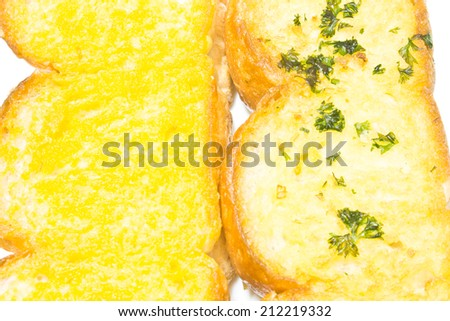 Garlic Bread and Bread Butter - stock photo