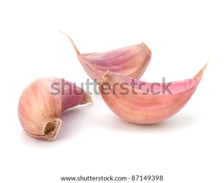 Garlic clove isolated on white background - stock photo