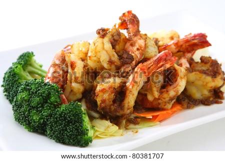 Garlic Shrimp - stock photo