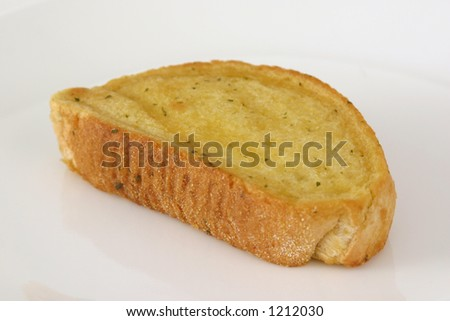 Garlic Toast on White
