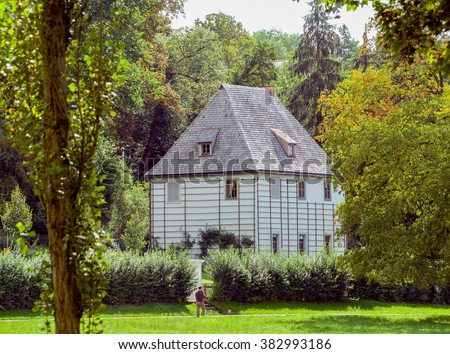 Gartenhaus of Goethe in Weimar, a city in Thuringia (Germany) - stock photo