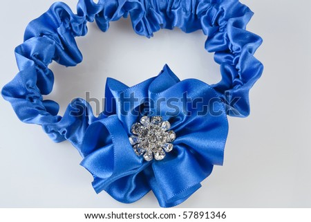 Garter of the bride - stock photo