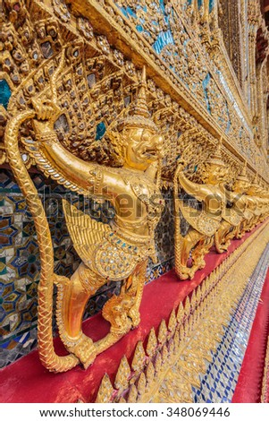 Garuda statue image in a very beautiful motifs. - stock photo
