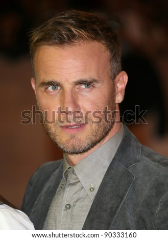 Gary Barlow arriving for the UK Premiere of The Three Musketeers, at Westfield, London. 04/10/2011 Picture by: Alexandra Glen / Featureflash