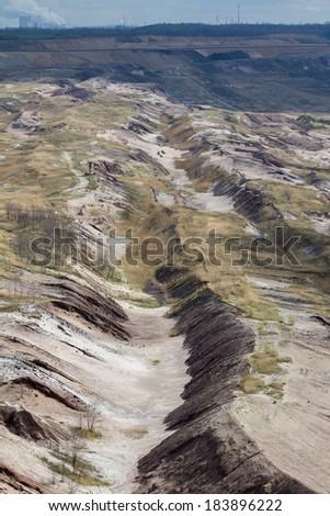 garzweiler brown coal surface mining germany - stock photo