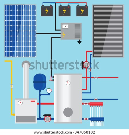 Solar Water Heater Stock Images Royalty Free Images