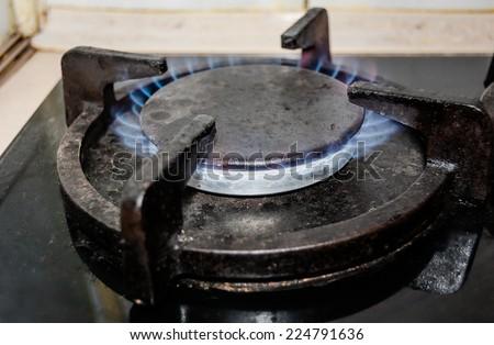 gas burner, gas-ring - stock photo