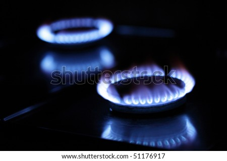 gas burners - stock photo