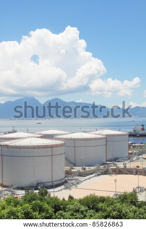 gas container in hong kong - stock photo