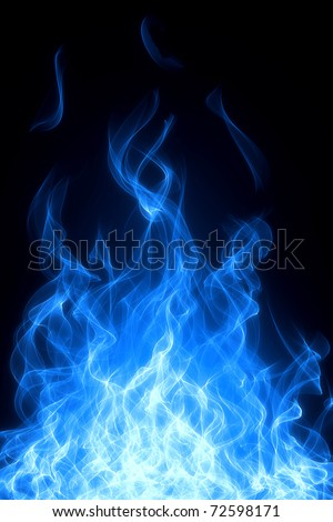 Gas fire and flame background - stock photo