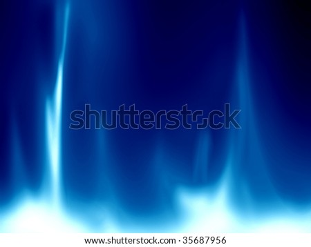 gas flame on a bright blue background - stock photo
