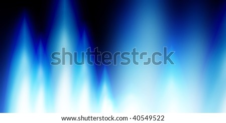 gas flames on a dark black background - stock photo