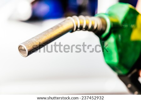 Gas fuel - Selective focus on head pump process Vintage effect style pictures - stock photo