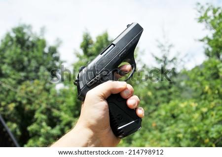 Gas gun - stock photo