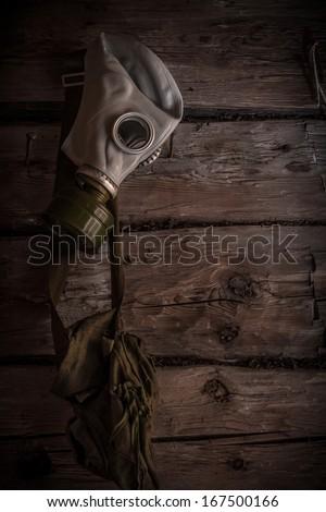 Gas mask. - stock photo