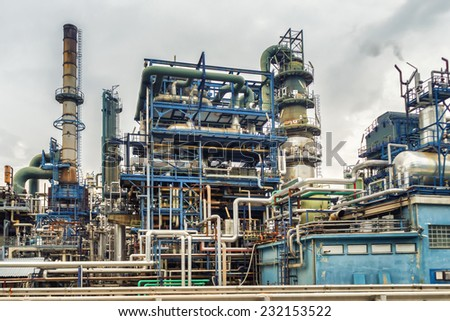 gas, oil and chemical industrial plant - stock photo
