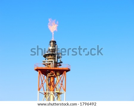 gas oil flare - stock photo