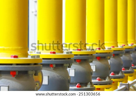 Gas pipeline.Industrial business. - stock photo