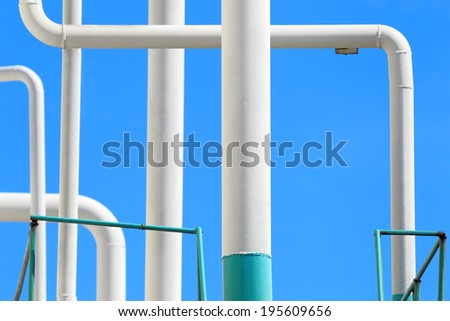 Gas pipeline.Industrial chemical factory - stock photo