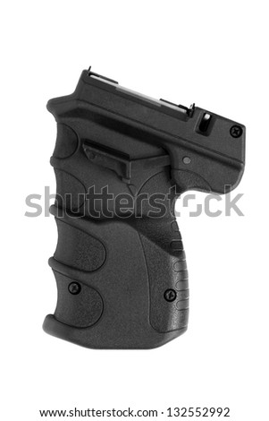 Gas pistol isolated on a white background - stock photo