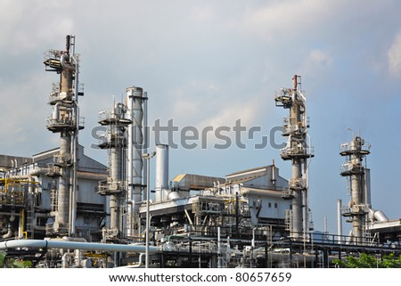 gas processing factory - stock photo