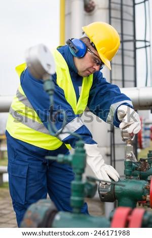 Gas Production Operator Stock Photo 246171988 - Shutterstock