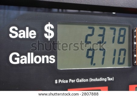 Gas Pump Display - stock photo