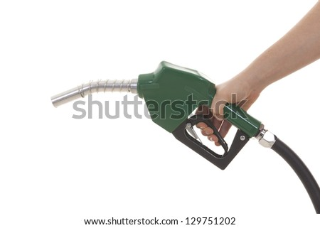 gas pump isolated on white - stock photo