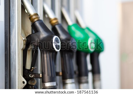 Gas pump nozzles  - stock photo