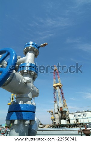 gas recovery - stock photo