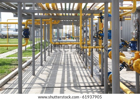 Gas refinery pipes