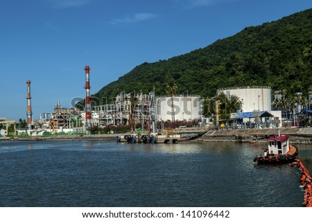 Gas Separation Plant in Thailand - stock photo