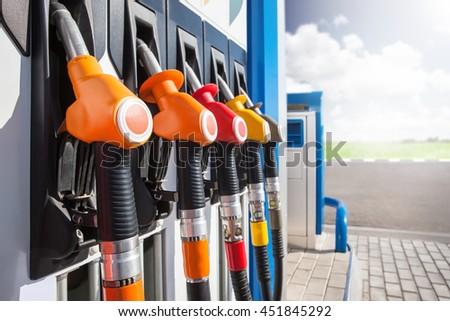 gas station - stock photo