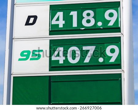 Gas station prices