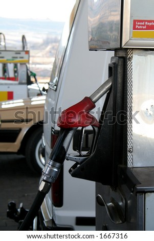 Gas station pump - stock photo