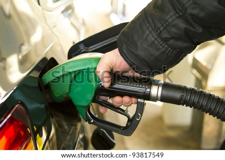Gas Station pump - petrol - stock photo