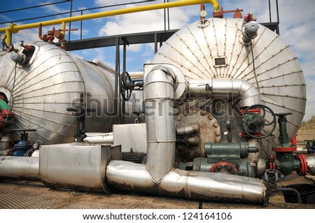 Gas storage and pipeline