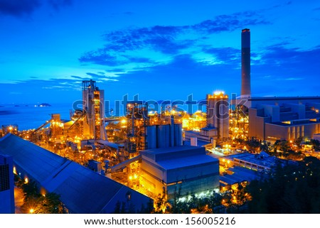 Gas storage spheres tank in petrochemical plant - stock photo