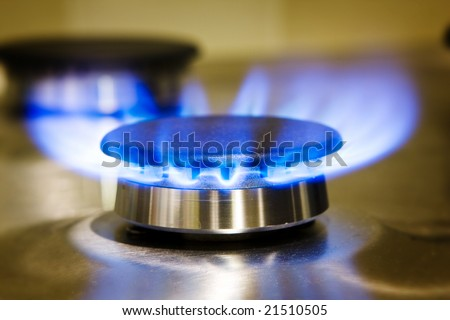 Gas Stove Burner - stock photo
