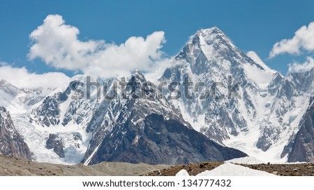 Gasherbrum IV is one of the most aesthetic peaks in the Karakorum Mountains in Northern Pakistan.