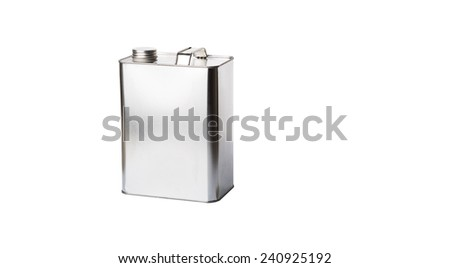 Gasoline can over white background - stock photo