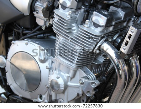 gasoline engine owned motorcycle - stock photo