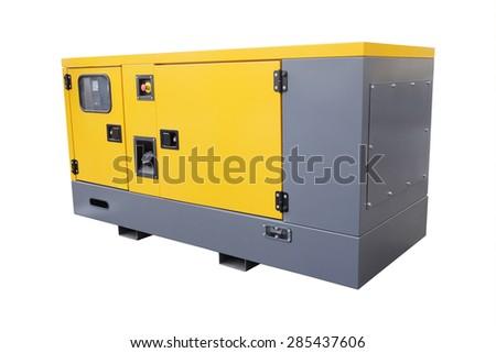gasoline generator on white background - stock photo