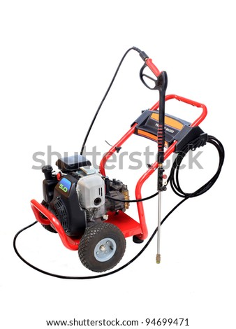 Gasoline Pressure Washer Isolated on White