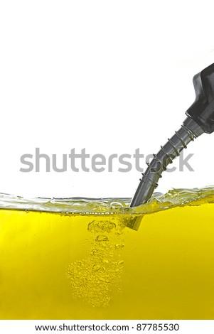 gasoline pump nozzle - stock photo