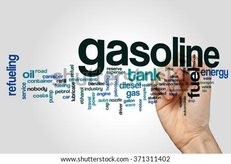 Gasoline word cloud - stock photo